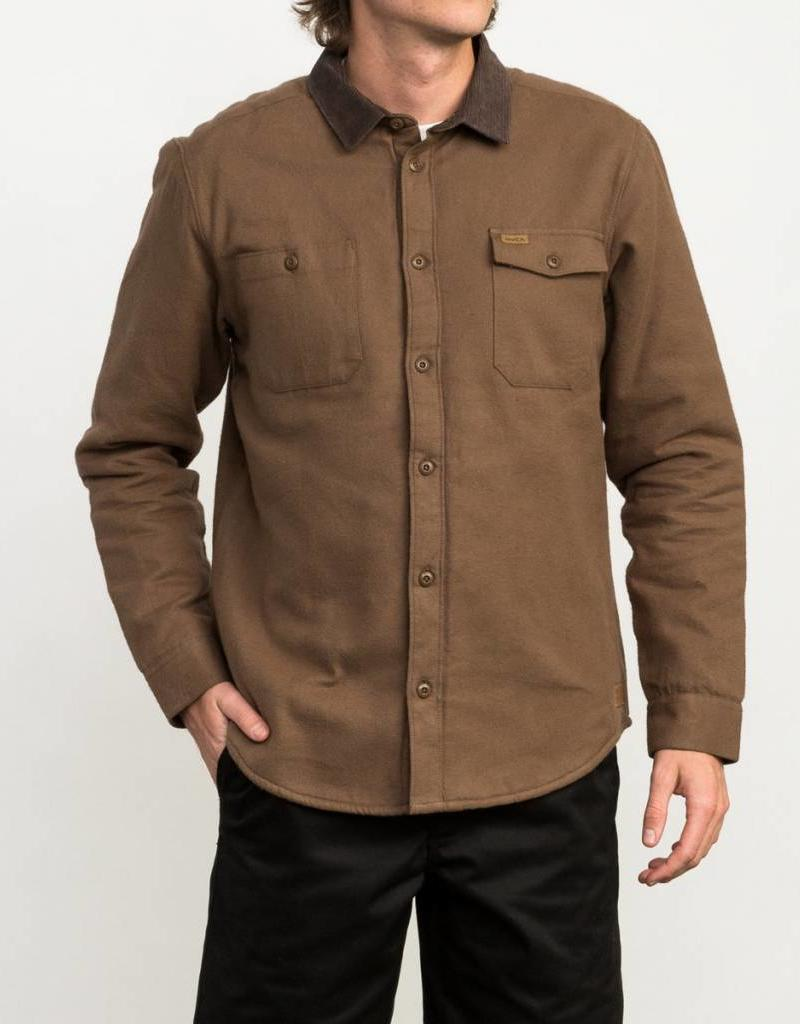 Rvca Mens Victory Sherpa Button Up Shirt 42nd Street