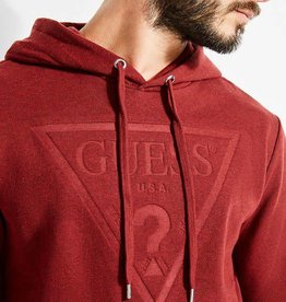 Guess Guess Mens Roy Debossed Logo Hoody