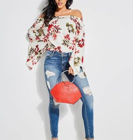 Guess Guess Womens Hayden Off The Shoulder Top