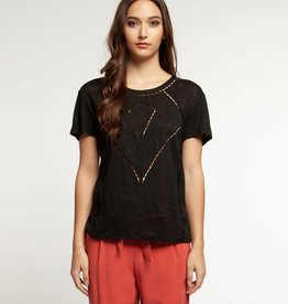 DEX Dex Scoop Neck Cut Out T-Shirt