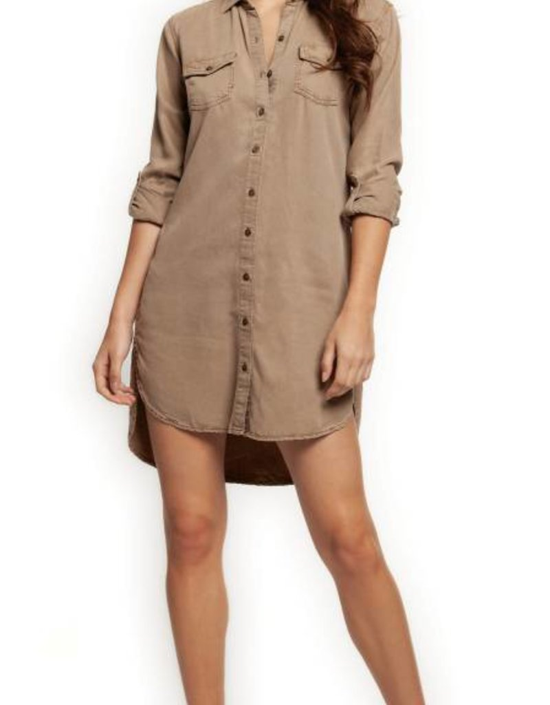 2edf55c143d Dex Button Front Tunic - 42nd Street Clothing