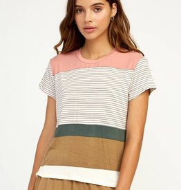 RUCA RVCA Womens Recess Striped Tee