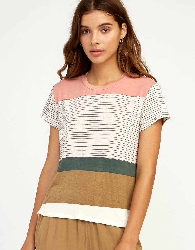 7a590aa1 RVCA Womens Recess Striped Tee - 42nd Street Clothing