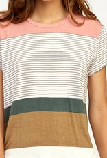 RUCA RVCA Womens Recess Striped Tee