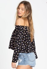 Billabong Billabong Womens Light It Up Off-The-Shoulder Top