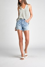 Silver Silver Womens Frisco High-Rise Vintage Short