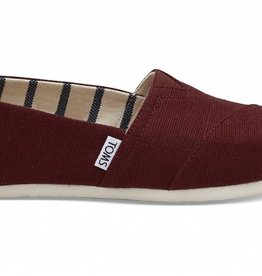 Toms Toms Womans Classic Black Cherry Heritage Canvas