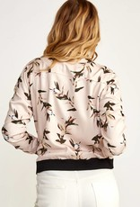 RUCA RVCA Womens Heldon Floral Bomber Jacket
