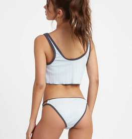 RUCA RVCA Womens Linear Ribbed Bikini Bottom