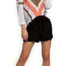 DEX Dex Cold Shoulder V-Neck Sweater