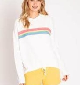 P.J. Salvage PJ Salvage Rainbow Lounge Stripe Hoody
