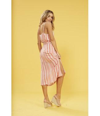 MinkPink Minkpink Ocean Side Stripe Midi Dress