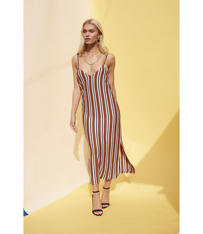 MinkPink Minkpink Stripey Loose Fit Dress