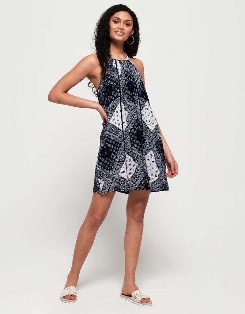 SuperDry Super Dry Womens Riley Lace Halter Dress