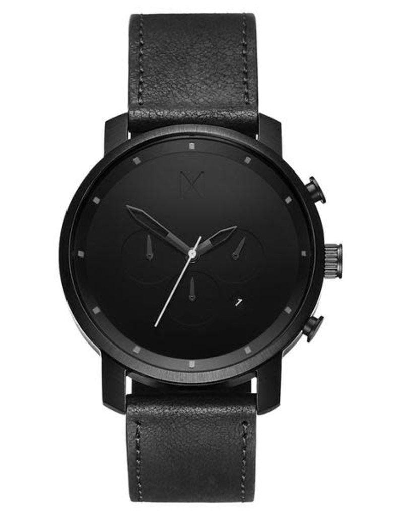 MVMT MVMT Chrono Black Leather