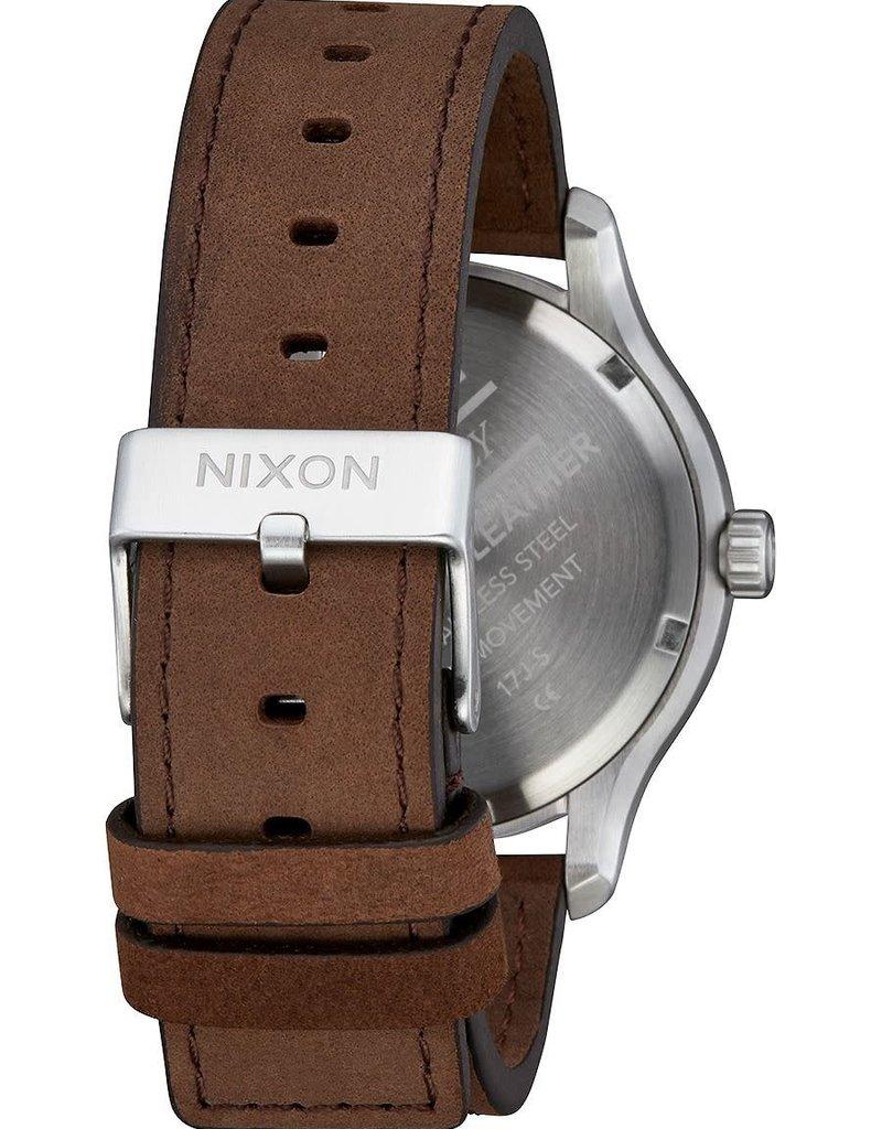 Nixon Nixon Patrol Leather Silver Brown