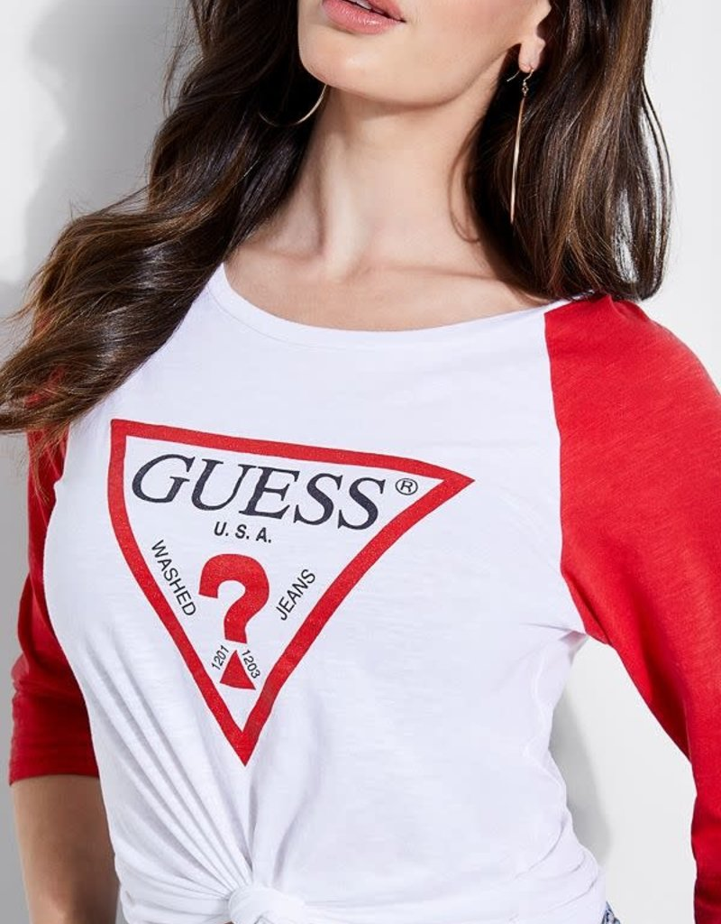 Guess Guess Womens Baseball Organic Cotton Tee