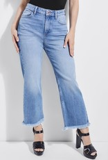 Guess Guess Womens Jessica Frayed Wide-Leg Jeans