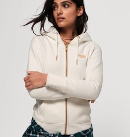 SuperDry Super Dry Womens Orange Label Elite Zip Hoody