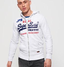 SuperDry Super Dry Mens Vintage Logo Split Lite Zip Hoody
