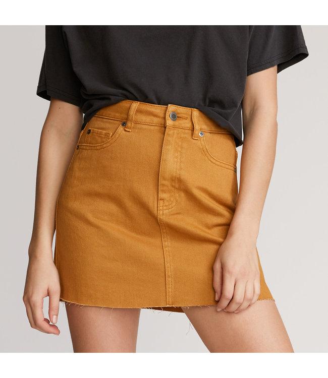 RVCA Womens Rowdy Denim Skirt