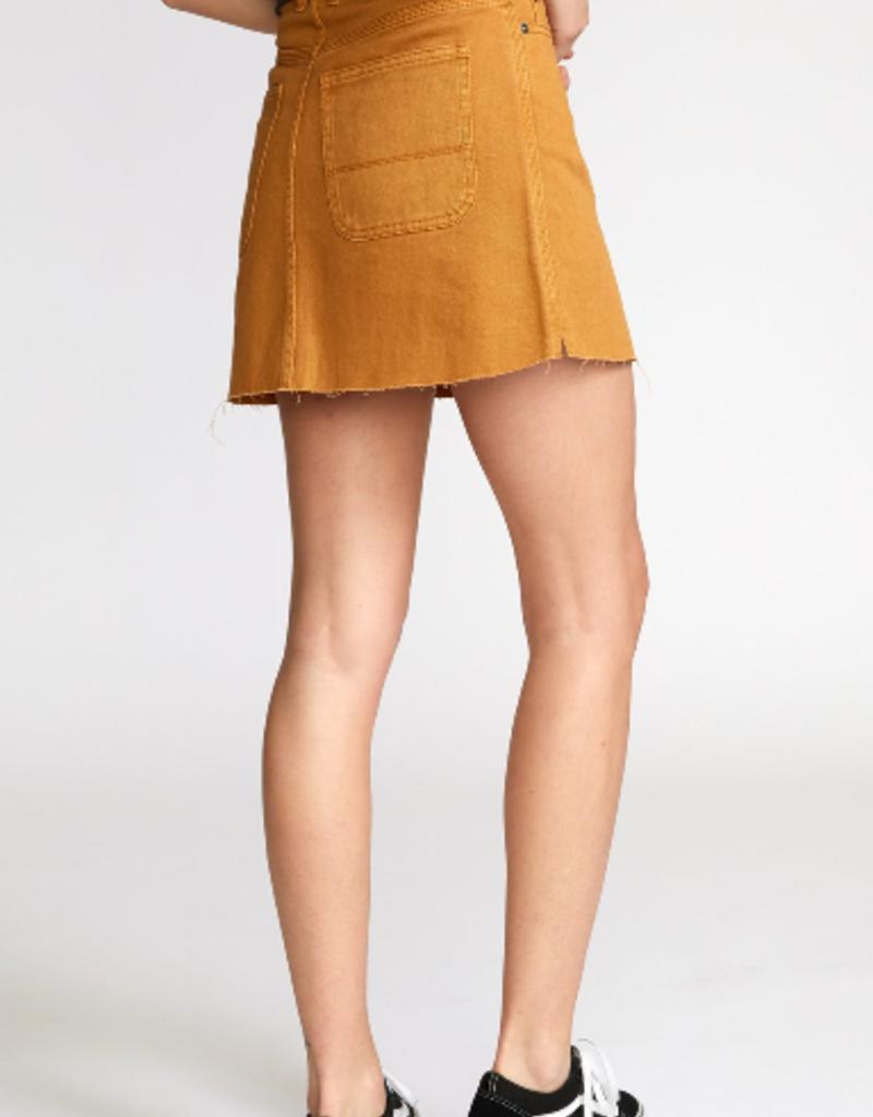 RUCA RVCA Womens Rowdy Denim Skirt