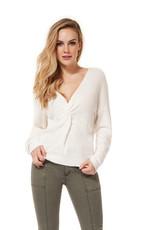 DEX Dex L/Slv V-Neck Twist Sweater