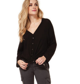 DEX Dex V-Neck Button Down Top W/Tie