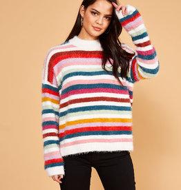 MinkPink Minkpink A Debby Stripe Sweater