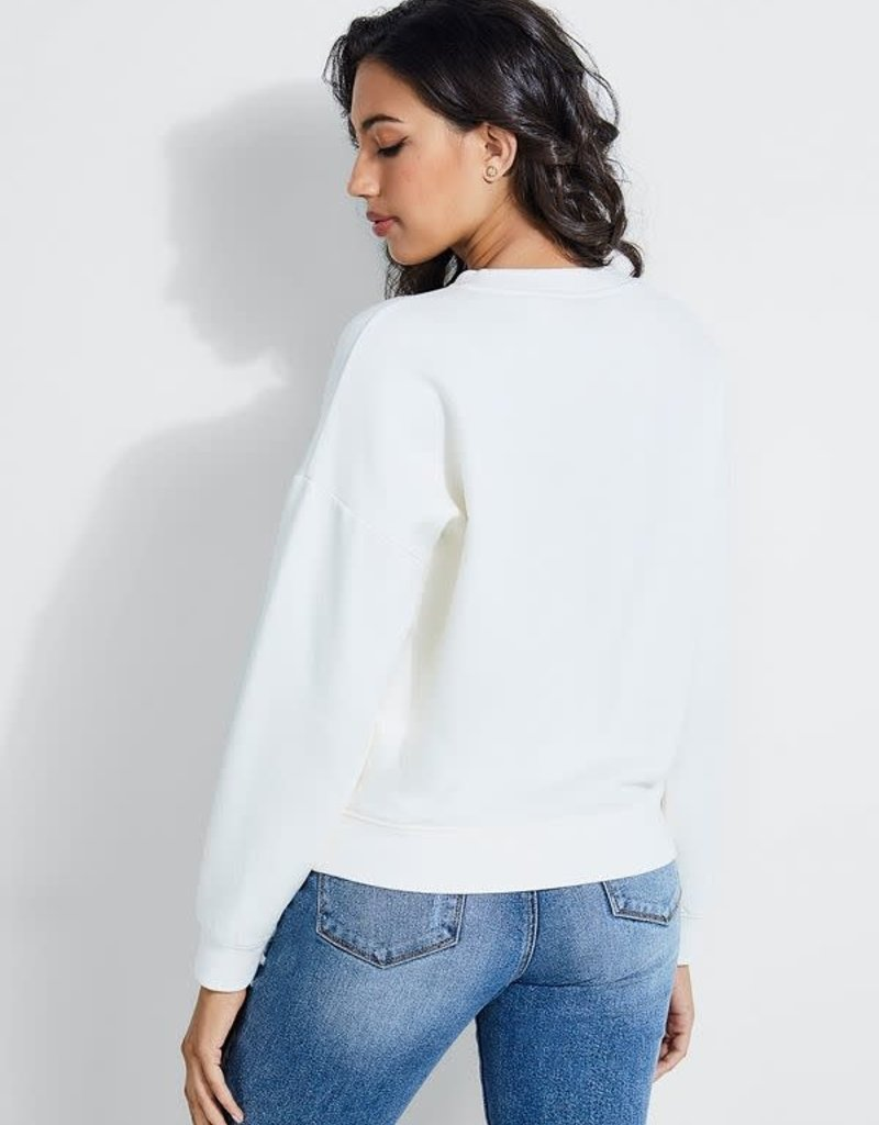 Guess Guess Womens Gold Embossed Sweatshirt