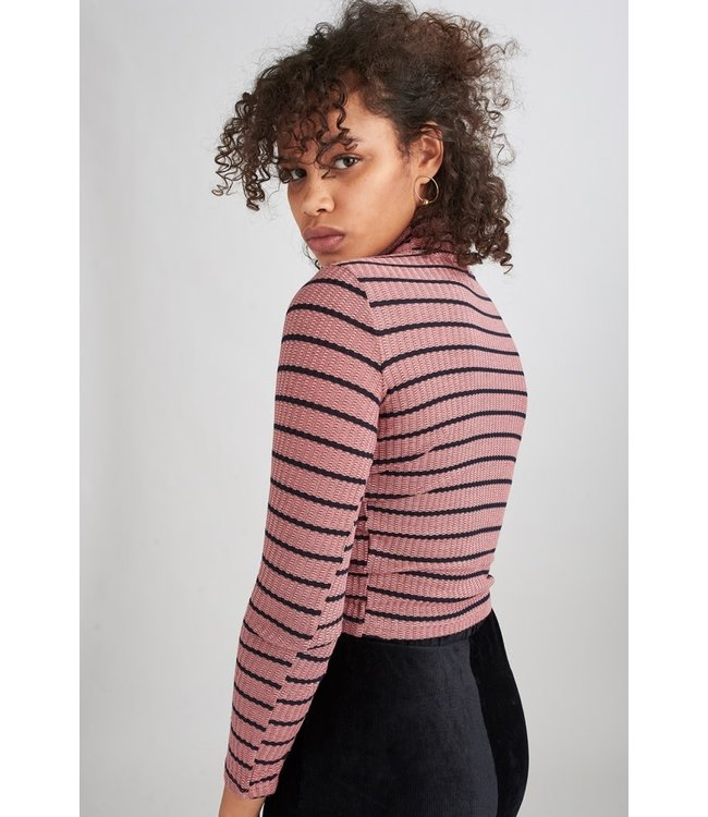 24Colours 24Colours Womens Rolli Striped Turtleneck