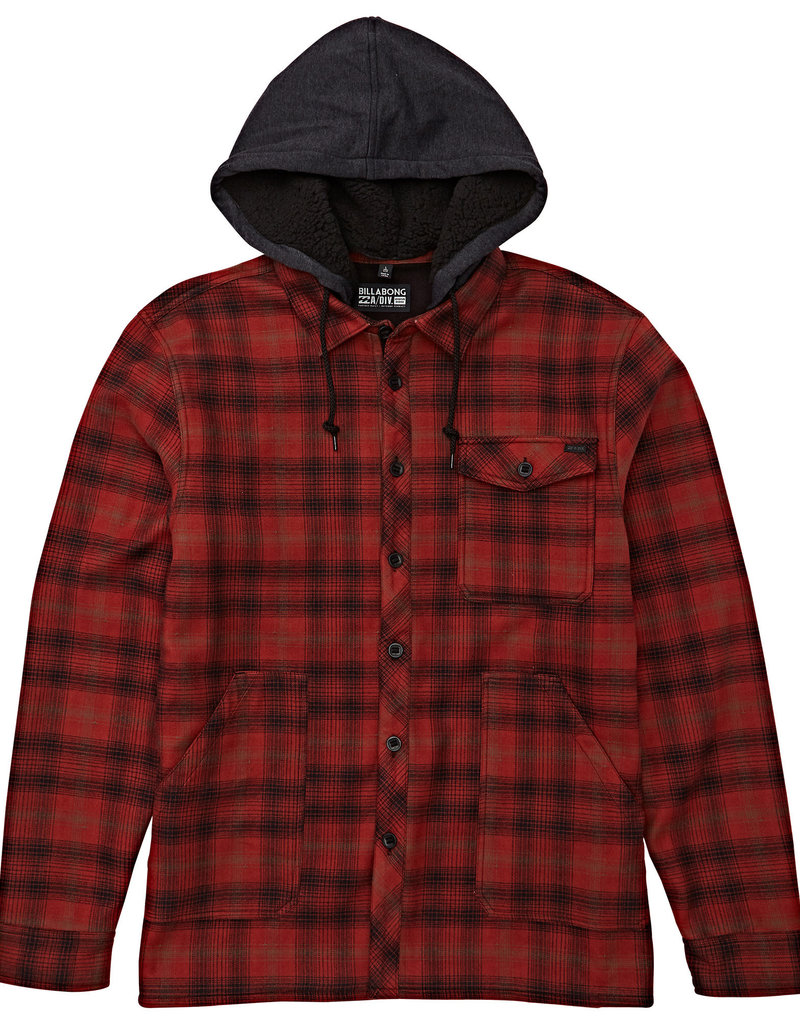Billabong Billabong Mens Furnace Hooded Flannel