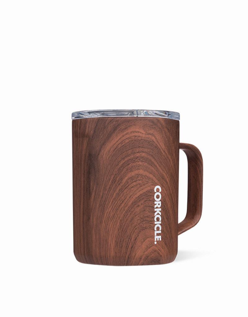 Corkcicle Corkcicle 16oz Coffee Mug Walnut Wood