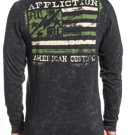 AFFLICTION Affliction Mens AC Flag LS Tee