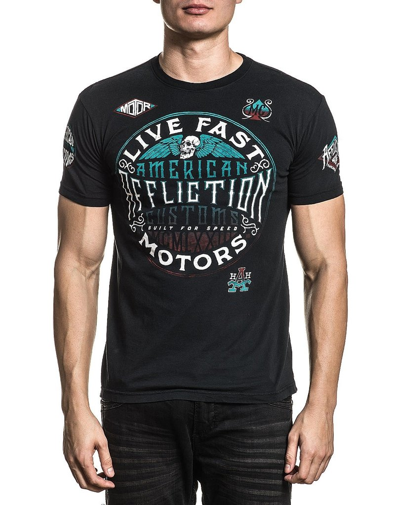 AFFLICTION Affliction Mens AC Alternator Reversible Tee