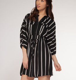 DEX Dex 3/4 Sleeve Shirt Dress