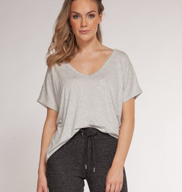 DEX Dex Drape Back Neck Hi-Low Top