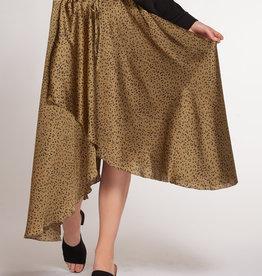 DEX Dex Faux Wrap Skirt W/Draw Cord