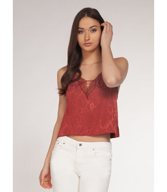 DEX Dex Crop Cami With Lace Detail