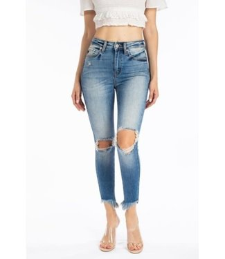 "Kancan 9.5"" High Rise Ripped Skinny"