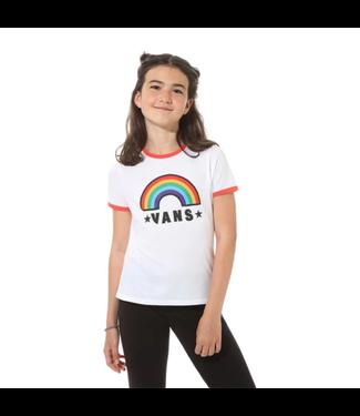 Vans Youth Girls Rainbow Patch Tee