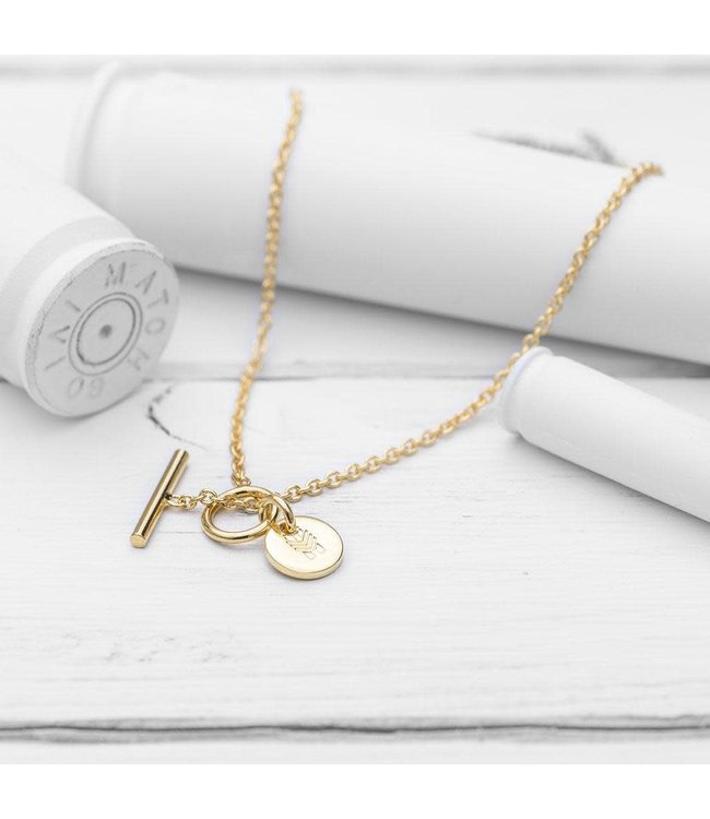 Brass and Unity Charm Necklace