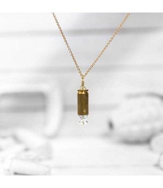 Brass and Unity Mini Shine Brighter Necklace