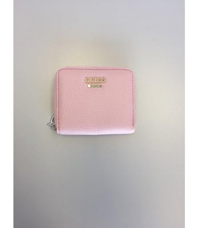 Guess Wallet Mini Me Zip Around Rose