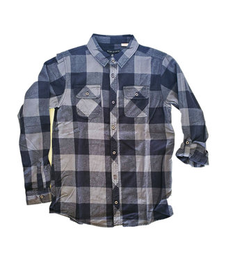 Silver Silver Youth Plaid Flannel Shirt