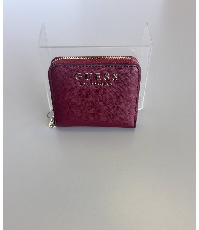 Guess Wallet Robyn Small Zip Around Merlot
