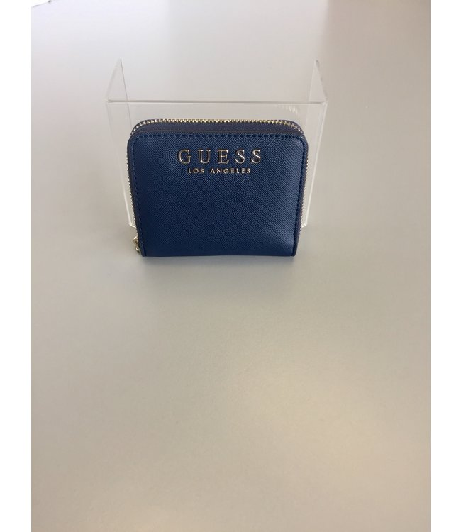 Guess Wallet Robyn Small Zip Around Navy