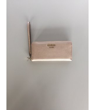 Guess Guess Wallet Vikky Large Zip Around Pale Bronze