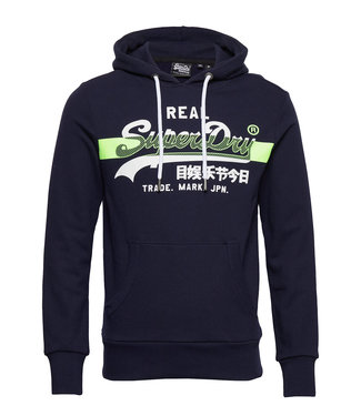 SuperDry Super Dry Mens VL Cross Hatch Hoodie