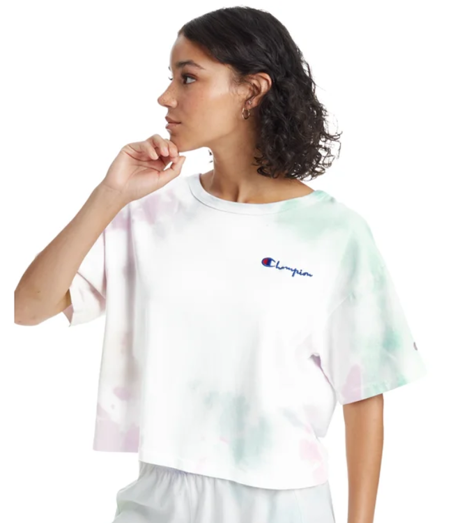 Champion Womens Heritage Cropped Tie Dye Tee